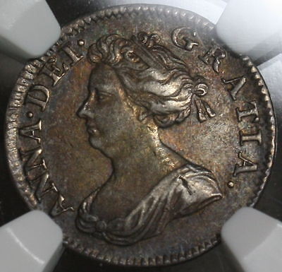 1704 NGC AU 55 QUEEN ANNE Silver 4 Pence GREAT BRITAIN (TOP POP 1/0)