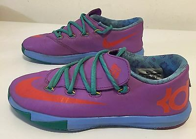 Nike KD 6 VI Rugrats Laser Purple Turquoise Sneakers 599478-500 Size 3Y