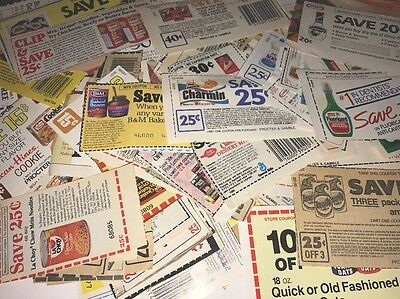 "Over 200 Vintage - Modern Mixed Lot "" No Expiration Date "" Manufacturer Coupons"