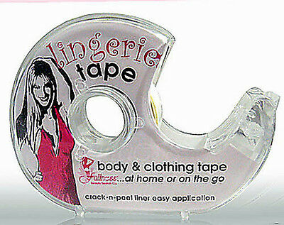 Lingerie Tape Body Fashion Clothing Double Sided Clear Transparent 3 Rolls