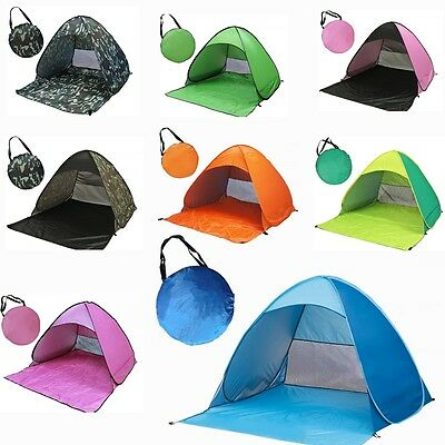Folding Automatic Tent Sun Shelter Portable Anti UV Pop Up Outdoor Beach Shelter