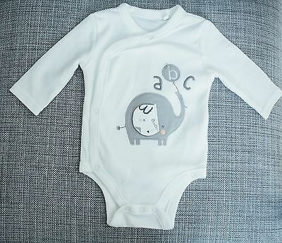 Brand new, never worn new baby bodysuit/babygro – elephant ABC design – up to 3m