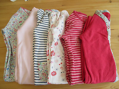 Baby Girls All In One Suits(Six Items).  Age 6-9 Months.