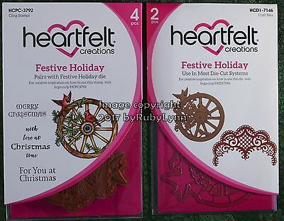 Heartfelt Creations Festive Holiday Stamps  HCPC-3792 & Dies HCD1-7146
