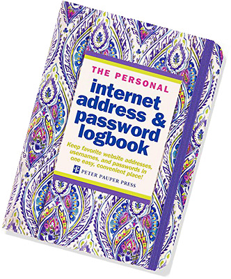 Silk Road Internet Address & Password Logbook Hardcover-spiral by Peter Pauper