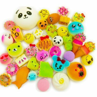 20Pcs Lot Jumbo Squishy Super Soft Slow Rising Squeeze Toy Pressure Relief Kids