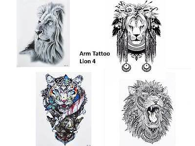 2 x l we tattoo k rper tattoo lion tattoo einmal. Black Bedroom Furniture Sets. Home Design Ideas