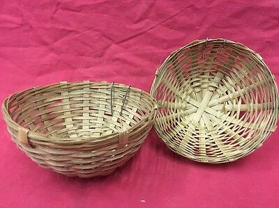 2 X Wicker Canary Nest Pans breeding nest pans finches 5 Inches