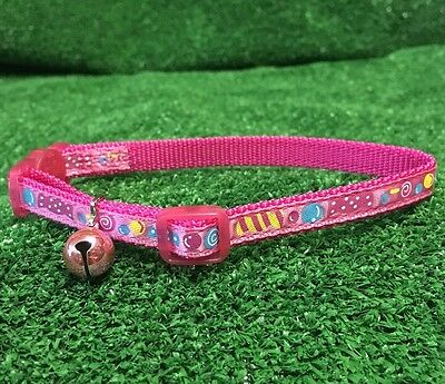 Cat Kitten Collar Adjustable PINK SWEETS CANDY Safety Buckle & Bell