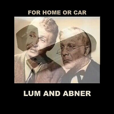 Enjoy Lum & Abner In Your Car Or Home! 1696 Old Time Radio Comedy Shows.