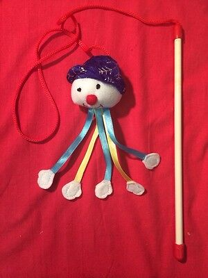 Cat Kitten Toy Catnip Rattling Snowman Christmas Xmas Dangler Interactive