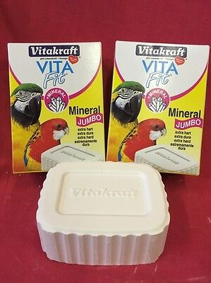 2x Jumbo Essential Mineral block Condition Calcium Quartz Grit Digestion Ex Hard