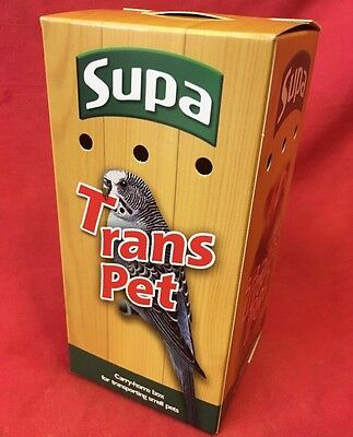 Carrying Box 6 X 3 Inch Budgies Canary Finch Carry Home Vets Transport Air Holes