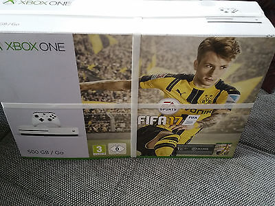 versiegelte microsoft xbox one s fifa 17 bundle wei mit. Black Bedroom Furniture Sets. Home Design Ideas