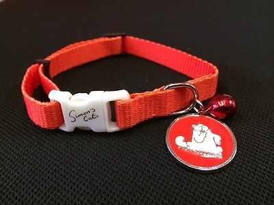 Cat kitten Collar RED Safety Collar Quick Release Soft Fabric Bell & Tag