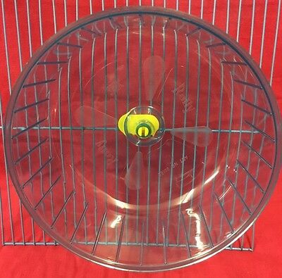 Hamster Wheel Silent Clip On CLEAR BLUE Dwarf Hamster Mice Gerbil Large 7.5""