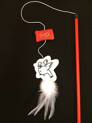 Cat Kitten Toy Feather And Felt Dangler Catnip Interactive Tease Toy