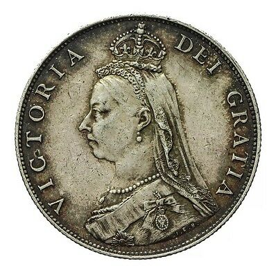 1887 Queen Victoria Silver Florin (Two Shillings)