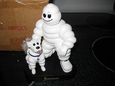 """Michelin Man and his Dog bobblehead, 7"""" Resin figure, Promo Item"""