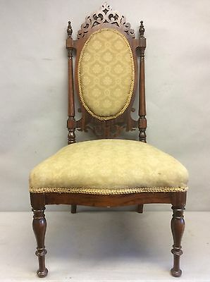 """Victorian Painted Rosewood Slipper Chair 36"""""""