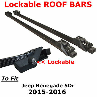 Lockable Roof Bars to Fit Jeep Renegade 5 Dr 15-16