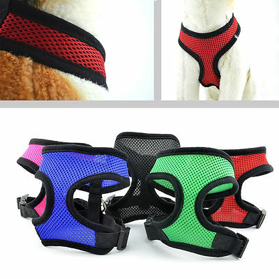 Dog Puppy PET HARNESS Adjustable Soft Comfortable Breathable Fabric Mesh Safety