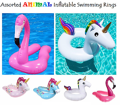 INFLATABLE SWIM POOL FLOATS Raft Swimming Fun Kids Water Sports Beach Toy New UK