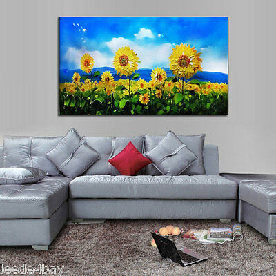 Large Modern hand-painted Art Oil Painting Wall Decor canvas SUNFLOWER(No Frame)
