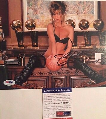 Jeanie Buss Los Angeles Lakers Owner Autographed 8x10 Photo 1 PSA/DNA COA