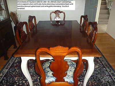 Drexel Heritage cherry dining room table & chairs