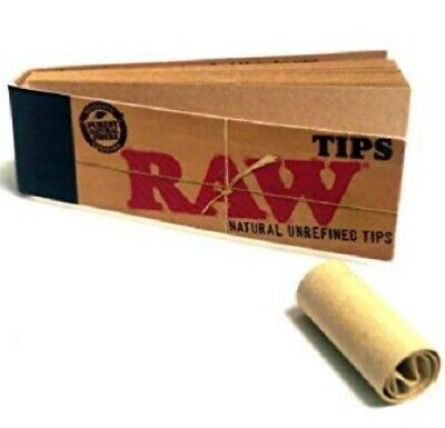 RAW Natural Unrefined Unbleached Original Tips Paper Tobacco Cigarette Papers