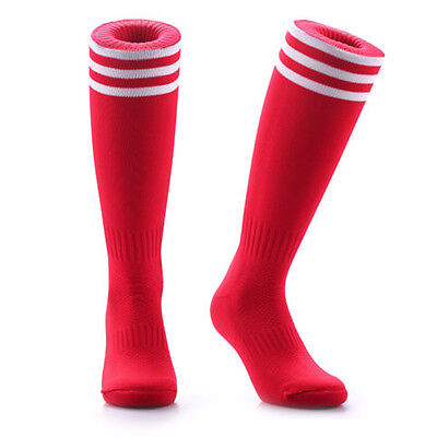 Samson® Football Red Striped Socks Sport Knee High Hockey Rugby Womens Mens