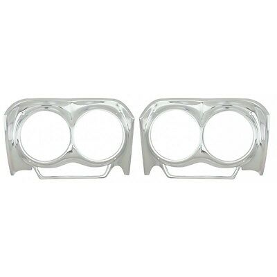 1962 Chevy Impala Headlamp Headlight Bezel Pair NEW