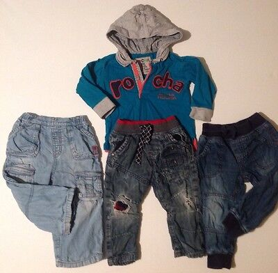 Disney + NEXT + Rocha Baby Boys X3 Jeans & Long Sleeved Hooded Top 12-18 Months