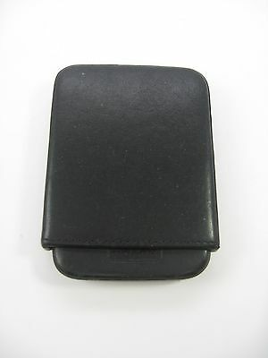 Coach Business Card Holder Black Leather