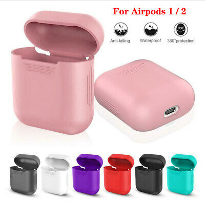 Silicone Apple AirPods Case Slim Skin Protective Cover For AirPod 1/2 Earphones