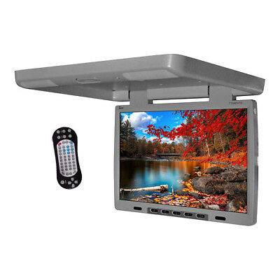 TVIEW T154DVFD Tview 15.4 Flip Down Monitor with built in DVD IR/FM trans Gray