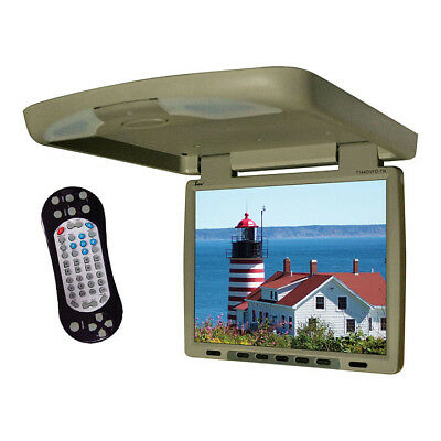 TVIEW T144DVFD Tview 14 Flip Down Monitor with built in DVD IR/FM trans Tan