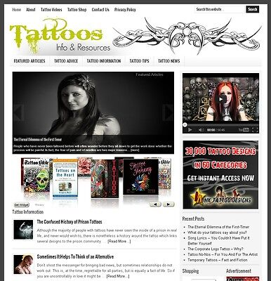 * TATTOO TIPS * niche website business for sale with AUTO UPDATING CONTENT!
