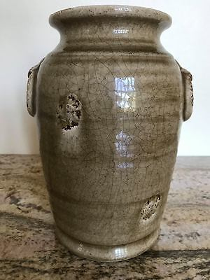 Song or Yuan Dynasty ? Very Old Chinese Antique Green Glaze Vase .