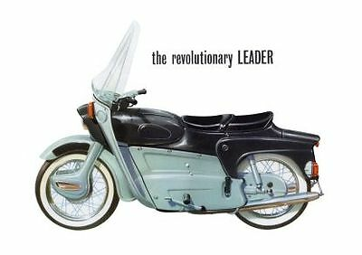 1961 Ariel Leader 250cc motorcycle poster