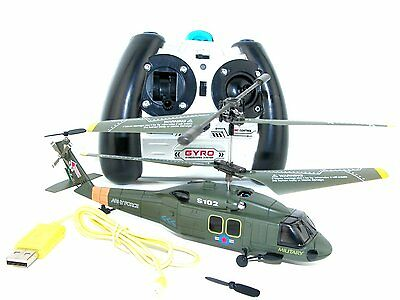 Syma S102G 3-Channel RC Helicopter (Black Hawk UH-60) BT A7I5 G3R4