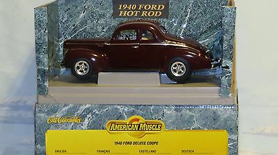 Ertl 1940 American Muscle Ford Deluxe Coupe 1:18 Diecast Car
