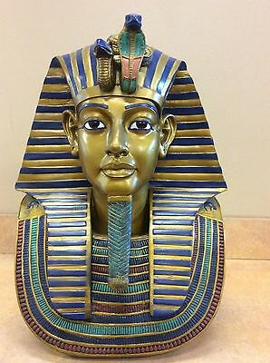"ANCIENT EGYPTIAN LARGE 19"" King Tut Bust 19""H  Ornate Decorative Collectible NEW"