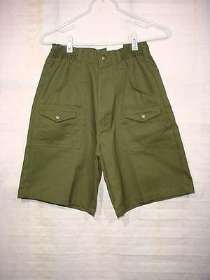 New Tags Regulation BSA Boy Scouts Forest Green Twill Uniform Shorts Size 6 W-25