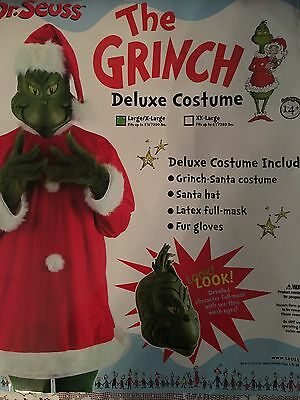 Dr. Suess The Grinch Deluxe Costume Large/XL Complete