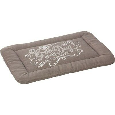 HOUSE OF PAWS HP794GXL House of Paws Good Dog Linen Crate Mat (XL; Gray)