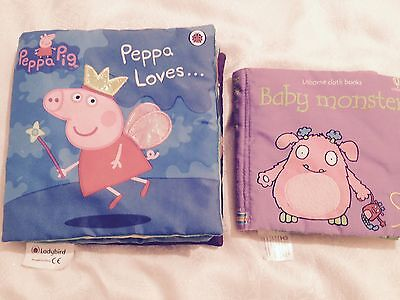 Peppa Pig And Usborne Baby Monster Soft Baby Books