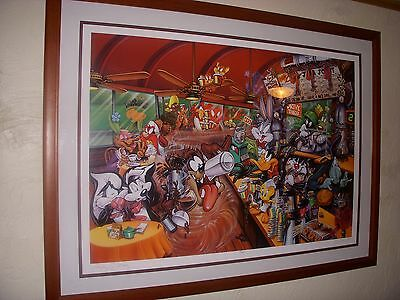 "Warner Bros. Bugs ""Java Joint"" rare Lithograph Only 47/250 Limited Edition"