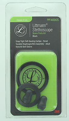 3M 40005 Littmann Stethoscope Spare Parts Kit for Classic II S.E. Black, New